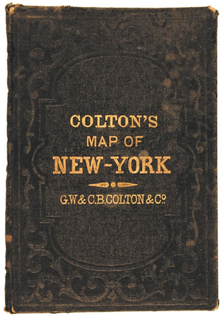 1867 Colton's New York Pocket Atlas Map Book