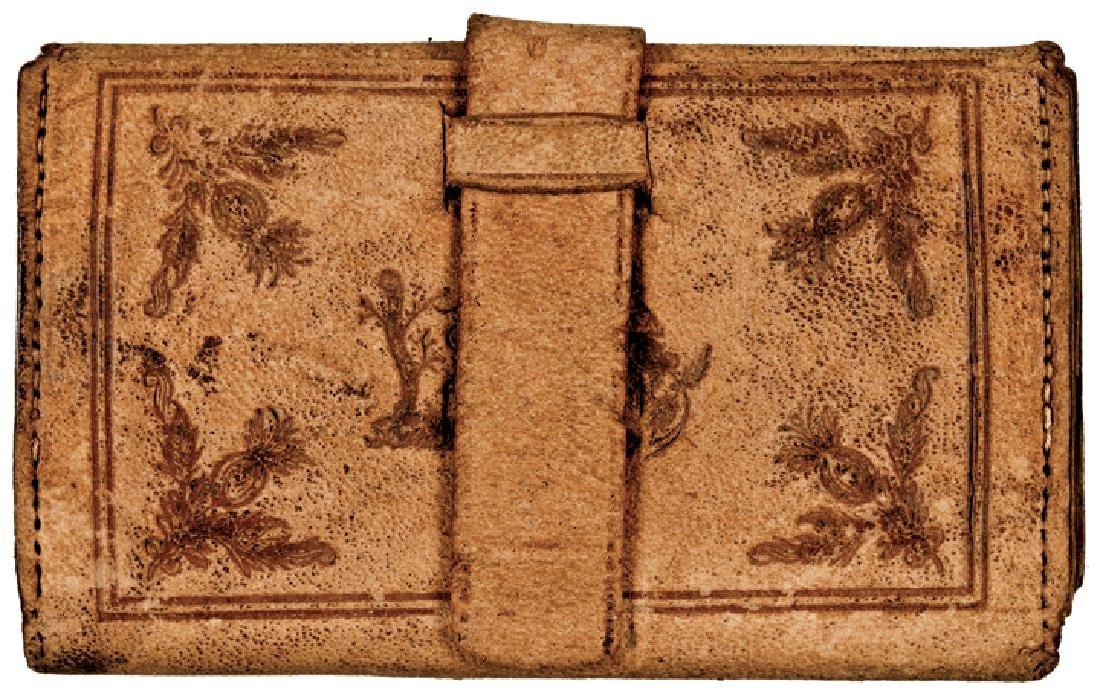 Civil War Era Wallet with Mormon Beehive Design