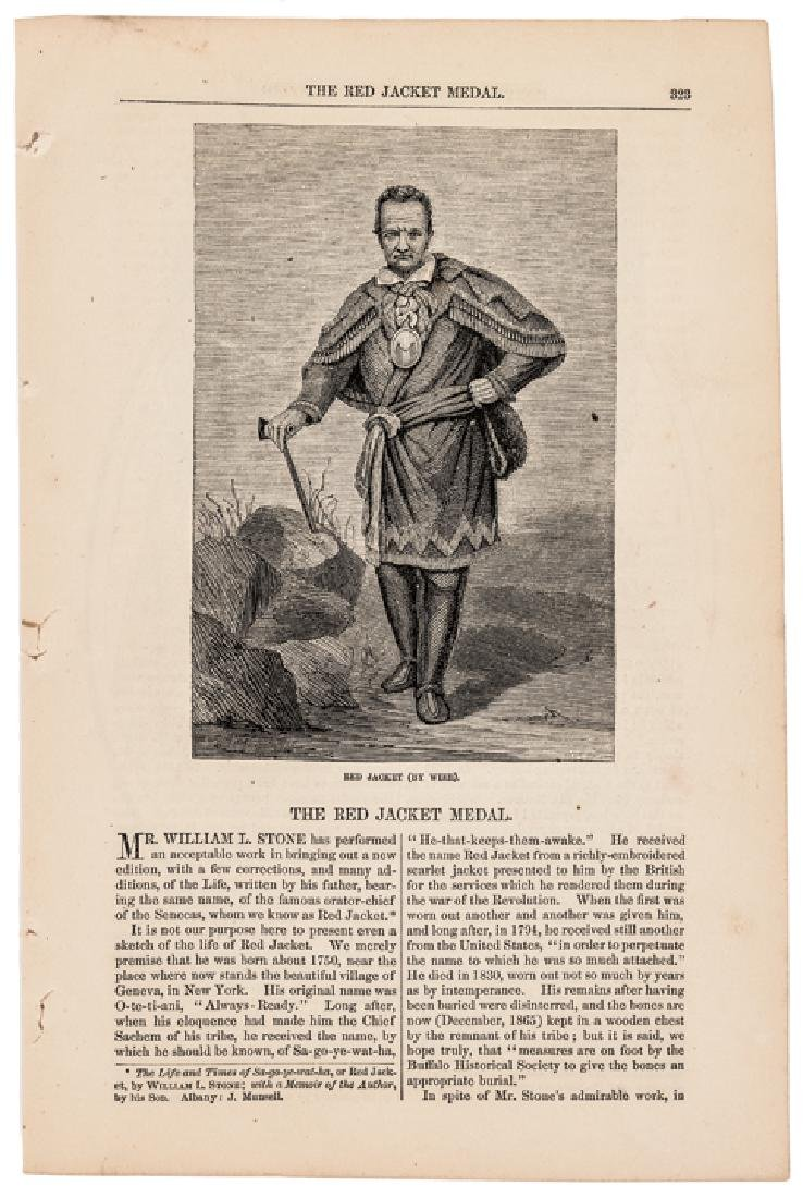 1866 Harpers Print Article: The Red Jacket Medal