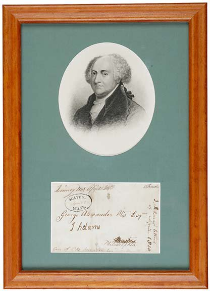1: John Adams Twice Signed Envelope, 1820
