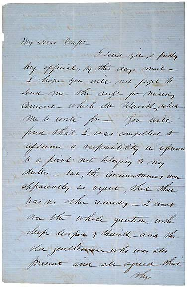 4: Robert Anderson Signed Letter 1856
