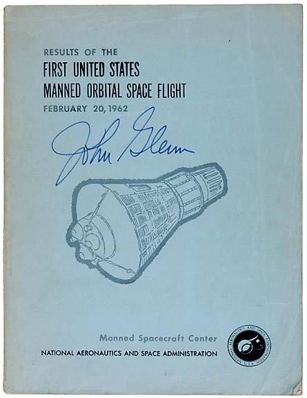 8: Astronaut John Glenn Signed NASA Publication