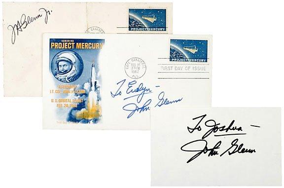 10: Astronaut John Glenn Signatures (3)