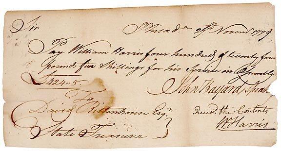 14: John Bayard Signed Document 1779