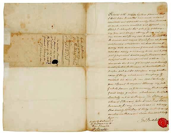 15: John Bradstreet  Signed Document, 1764