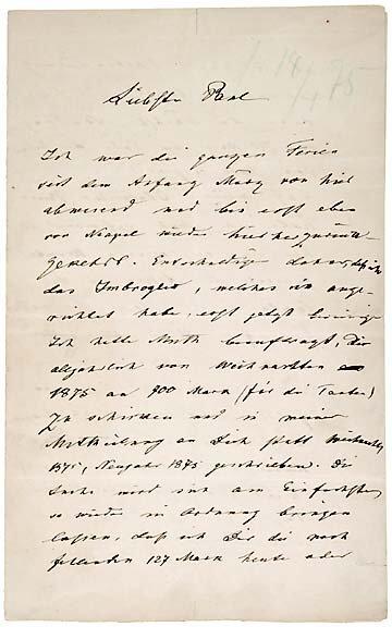16: Robert Bunsen Signed Letter, 1875, Germany