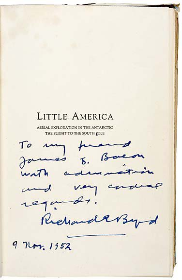 19: First Edition Book Signed by Richard .E. Byrd