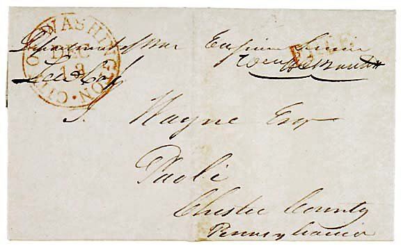 24: Lewis Cass Signed Free Frank 1832