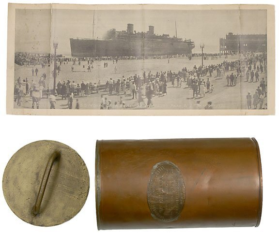 1197: Lifeboat Distress Canister from Morro Castle