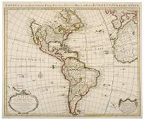 1286 1739 Engraving of Map of America