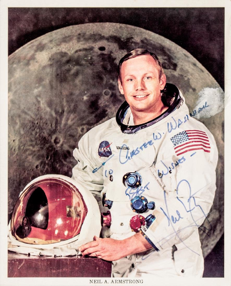 NEIL ARMSTRONG Signed + Inscribed NASA Photograph