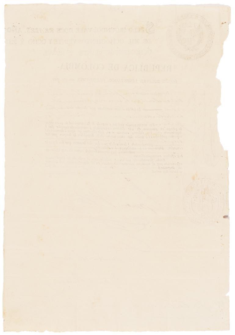 1829 SIMON BOLIVAR Document Signed as President - 2