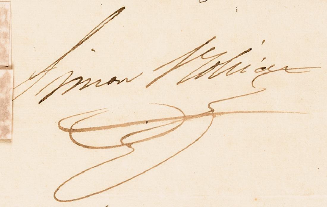 1829 SIMON BOLIVAR Document Signed as President - 3