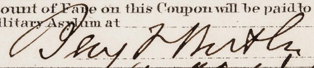 Major Gen. Benjamin Butler Railroad Ticket Signed - 3