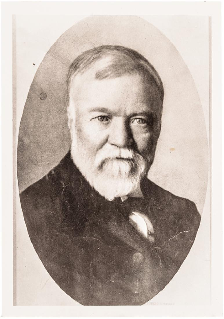 ANDREW CARNEGIE Signed N.Y. Peace Society Letter - 3