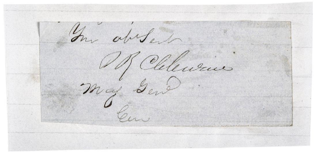 CSA Maj. General Patrick Ronayne Cleburne Signed!