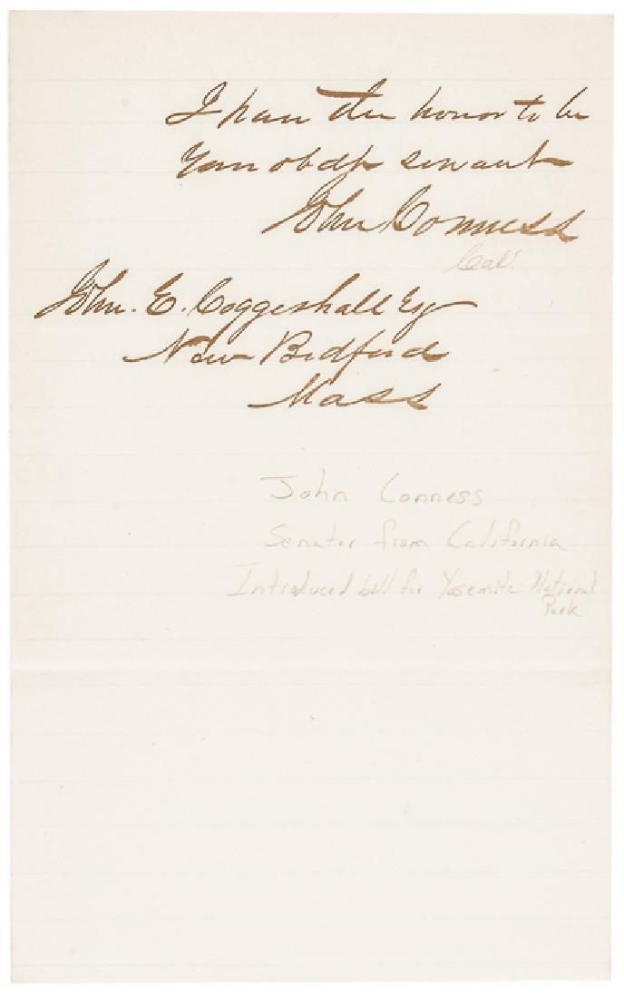 1866 JOHN CONNESS ALS Pres. LINCOLN's Succession - 2