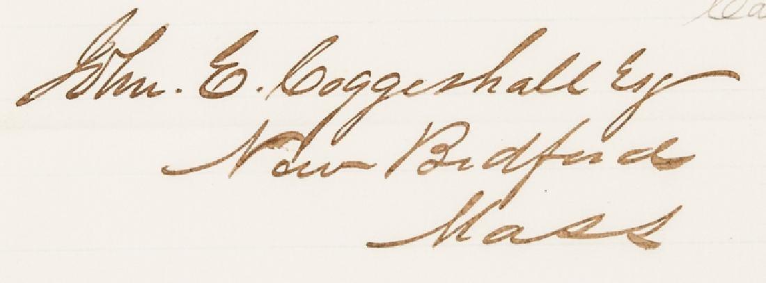 1866 JOHN CONNESS ALS Pres. LINCOLN's Succession - 4