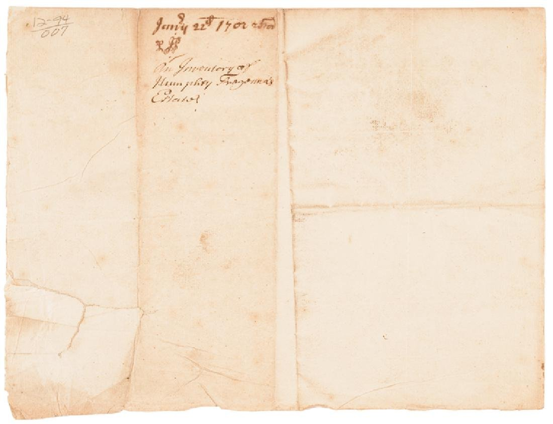 1703 CORNBURY Colonial NY Governor Signed Doc. - 4