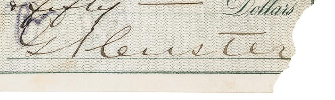 1872 General GEORGE ARMSTRONG CUSTER Signed Check - 3