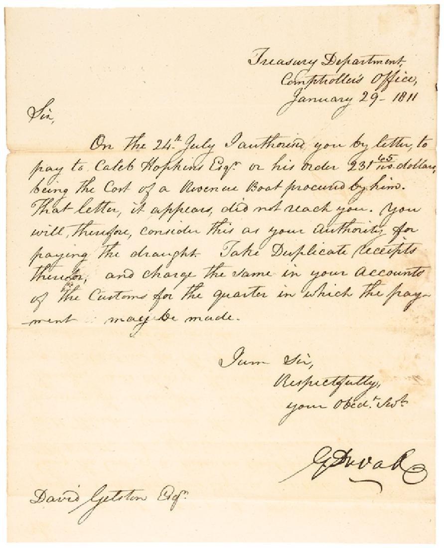 1811 GABRIEL DUVALL U.S. Treasury ALS