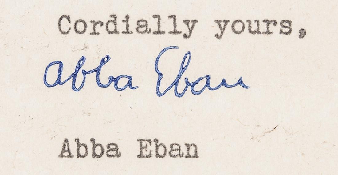 Israeli Minister ABBA EBAN Signed Item Archive! - 6