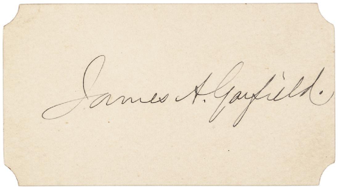 JAMES + LUCRETIA GARFIELD - PRESIDENT/FIRST LADY