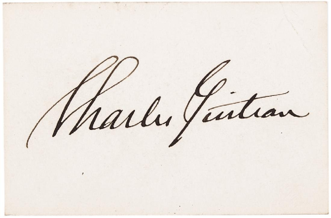 Garfield's Assassin CHARLES GUITEAU Signed Card