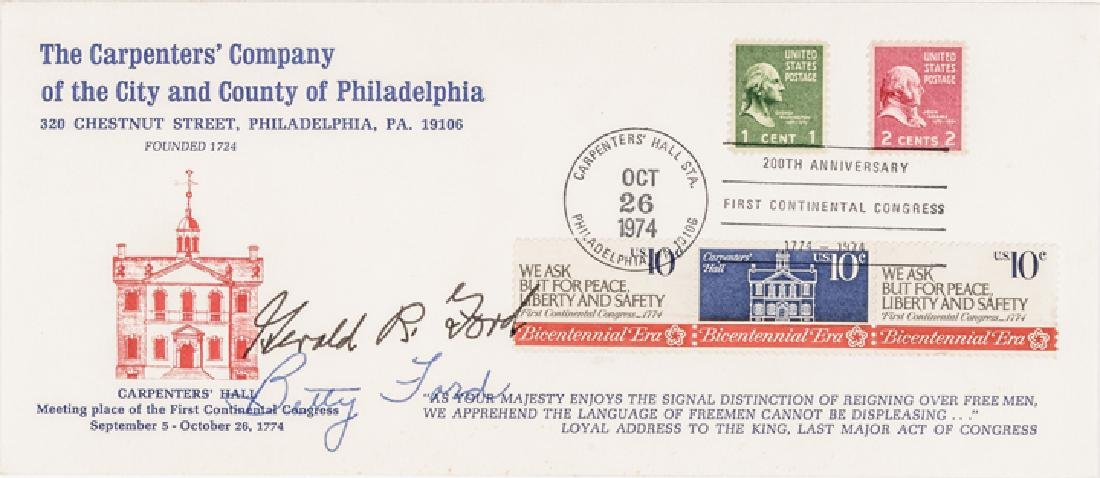 GERALD + BETTY FORD Autographed First Day Cover!