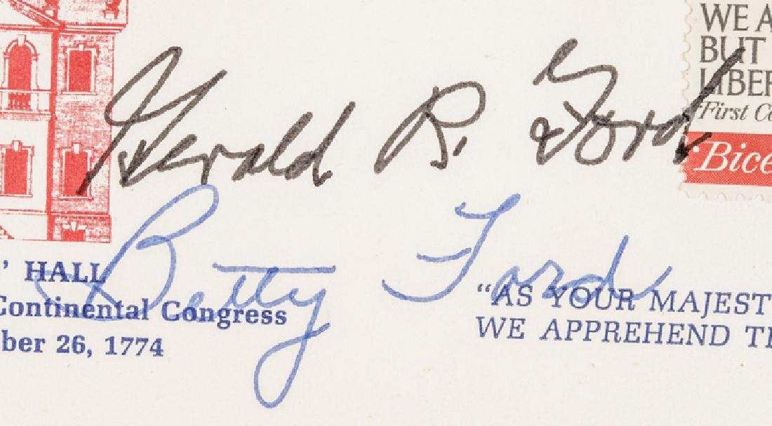 GERALD + BETTY FORD Autographed First Day Cover! - 3