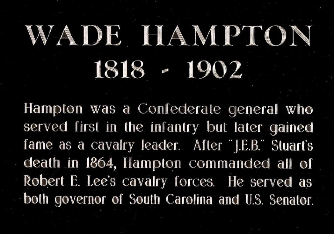 WADE HAMPTON Confederate Cavalry General Signature - 3