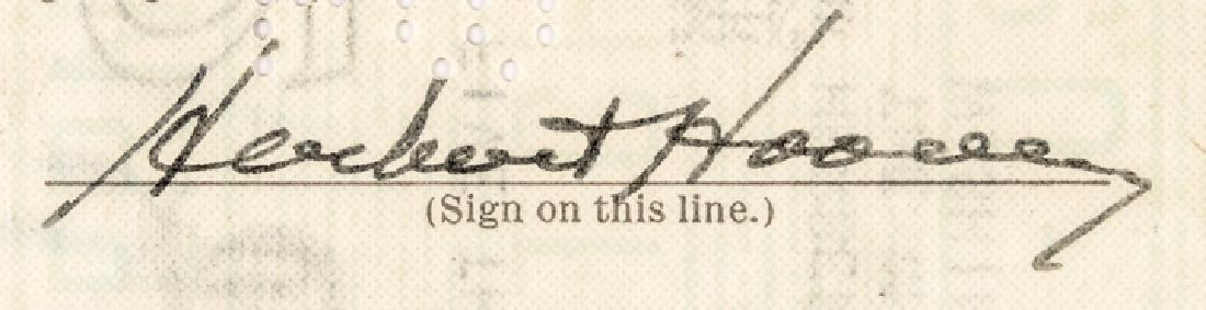 1933 President Herbert Hoover Endorsed Pay Check! - 3