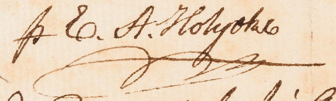 1779 Revolutionary War Dr. Edward Holyoke Invoice - 3