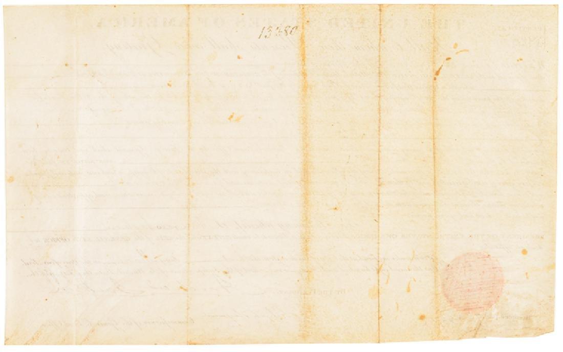 1831 President Andrew Jackson Signed Land Grant - 2