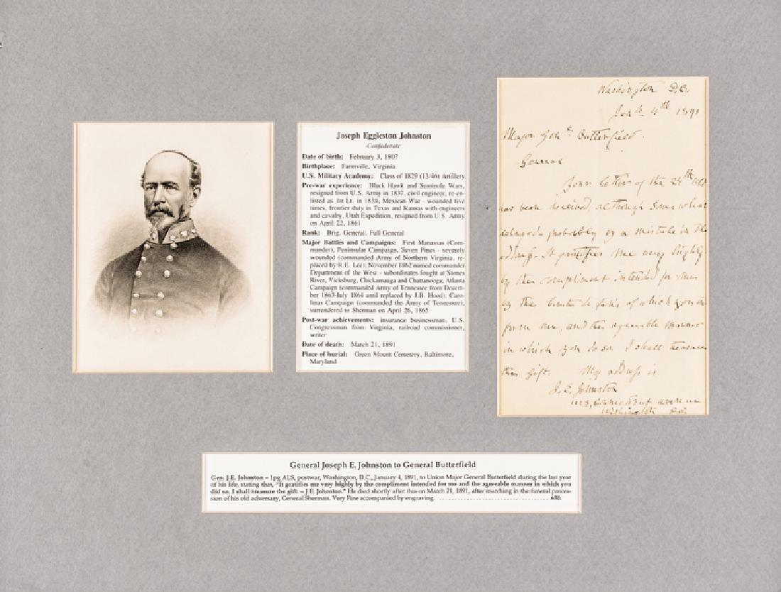 Confederate Brig. General JOSEPH E JOHNSTON ALS