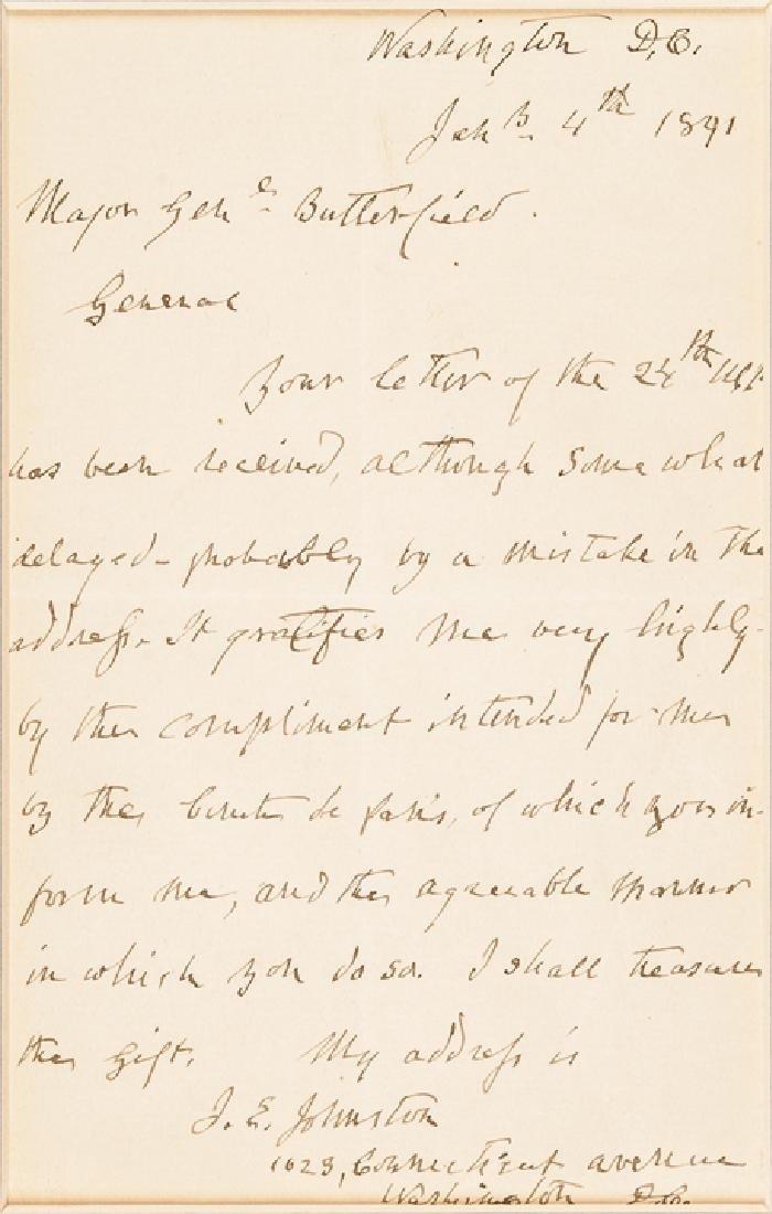 Confederate Brig. General JOSEPH E JOHNSTON ALS - 2