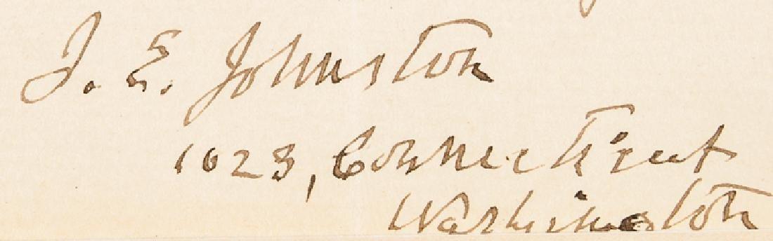 Confederate Brig. General JOSEPH E JOHNSTON ALS - 3
