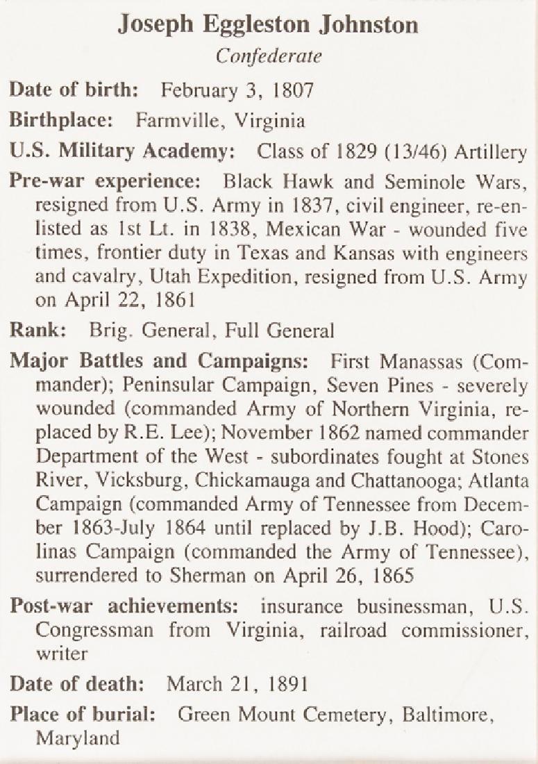 Confederate Brig. General JOSEPH E JOHNSTON ALS - 4