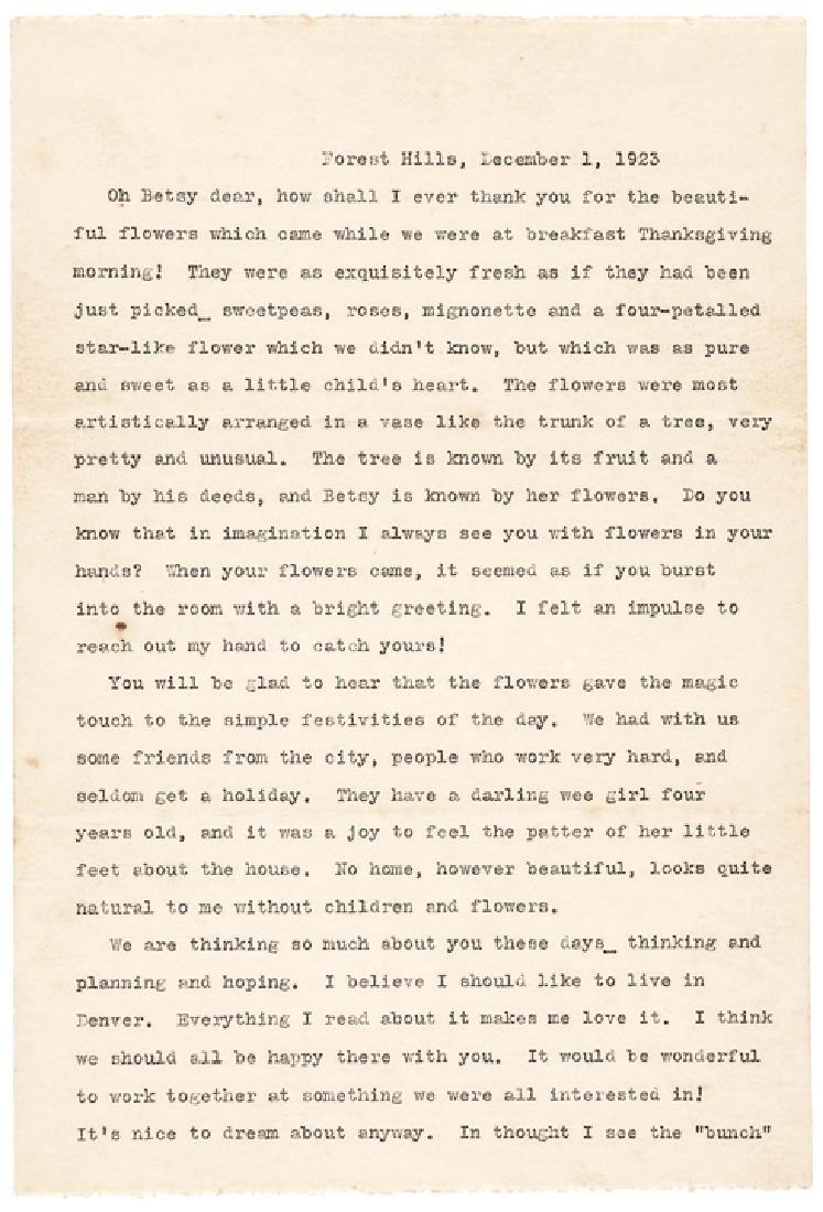 Excellent HELEN KELLER 1923 Typed Letter Signed