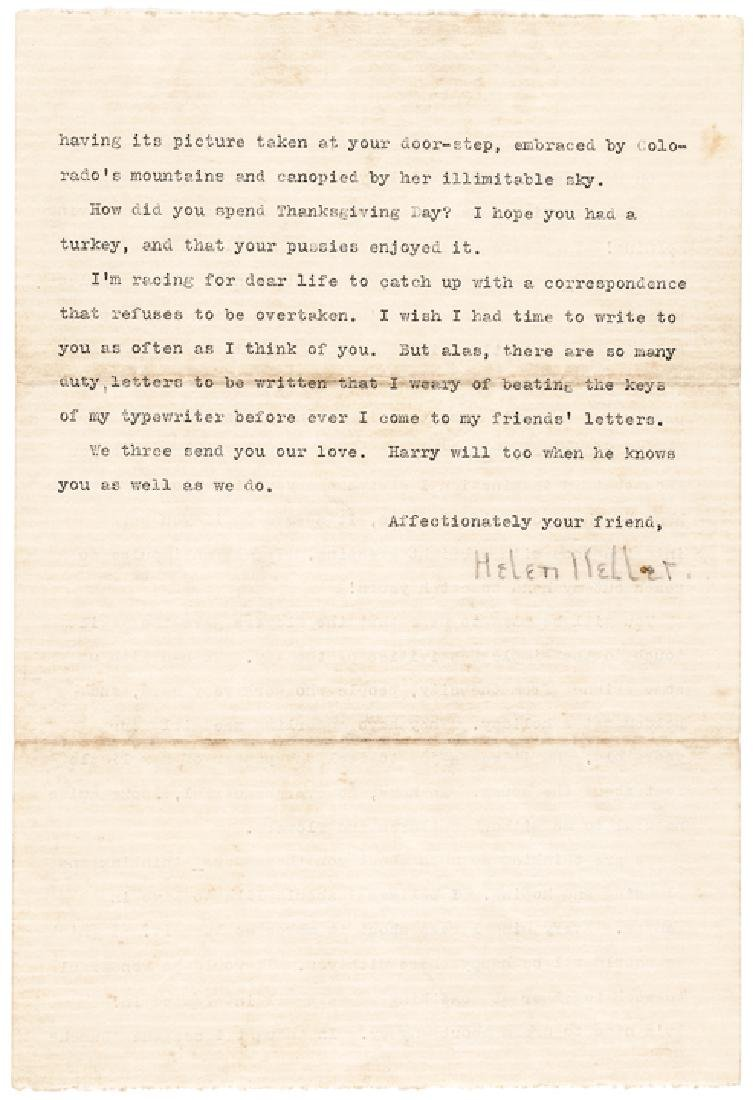 Excellent HELEN KELLER 1923 Typed Letter Signed - 2