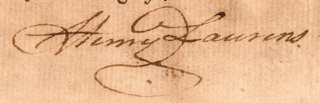 1779 HENRY LAURENS Signed Letter of Marque - 3