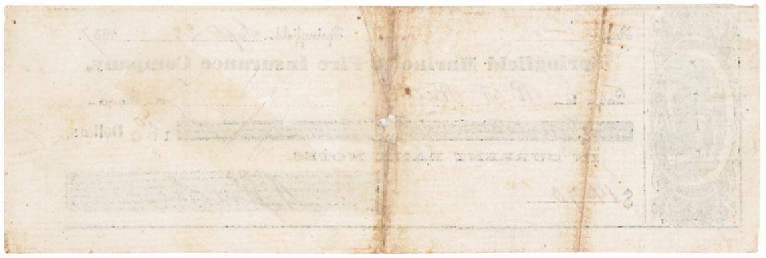 1857 Rare ABRAHAM LINCOLN Signed Personal Check! - 2