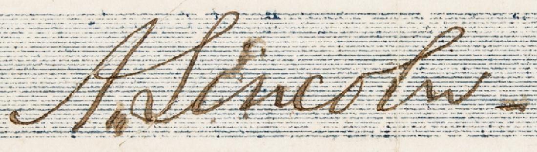 1857 Rare ABRAHAM LINCOLN Signed Personal Check! - 3