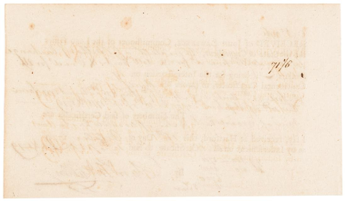 1779 Brig General SAMUEL MCCLELLAN Signed Receipt - 2