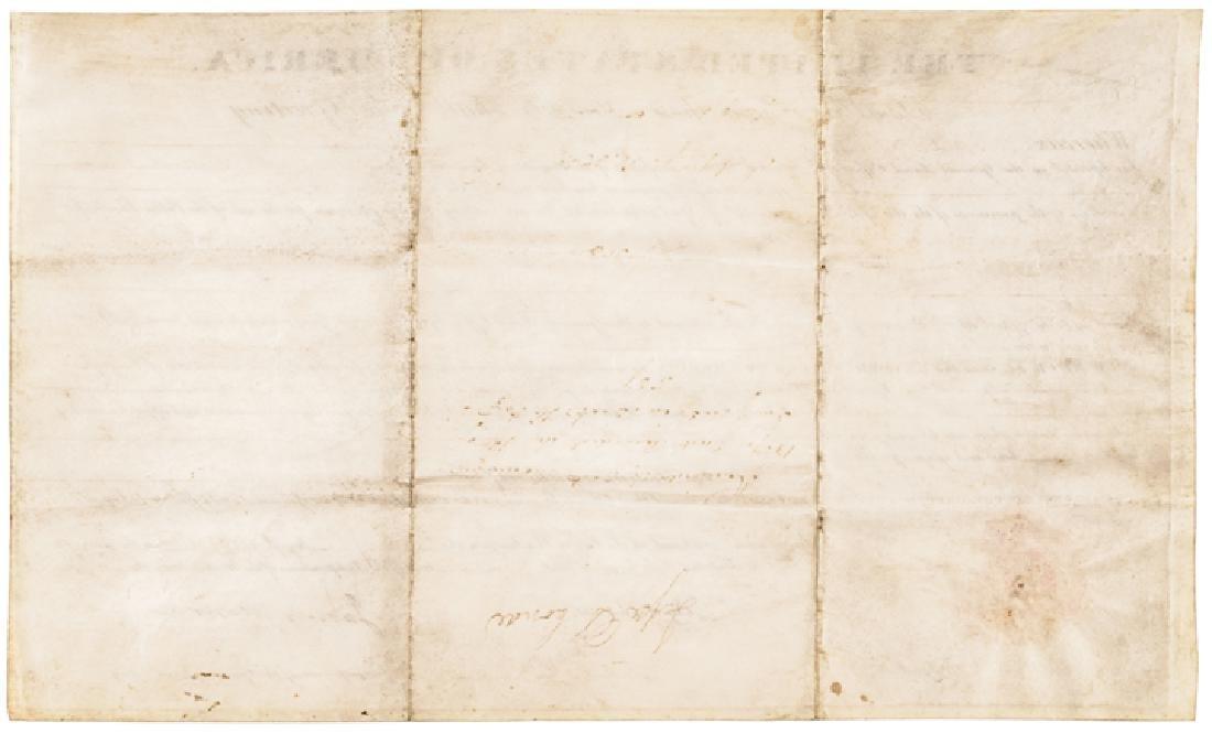 1823 President JAMES MONROE Signed Document - 2