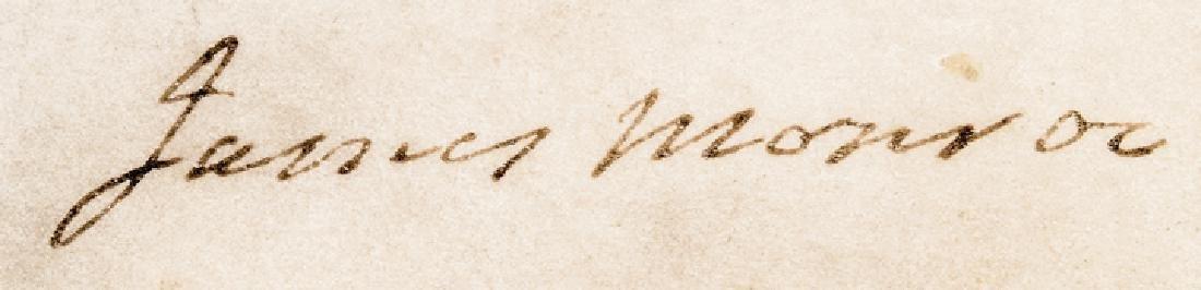 1823 President JAMES MONROE Signed Document - 3