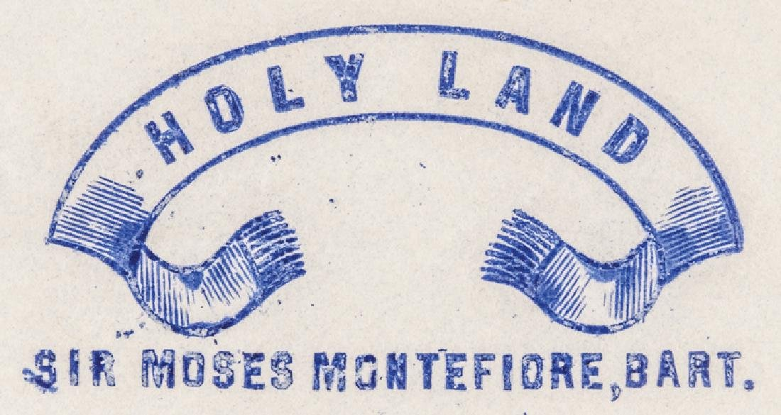 1860-80 MOSES MONTEFIORE Signed HOLY LAND Letter - 3