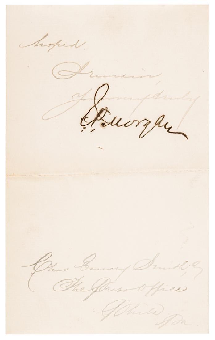 1906 Rare JOHN PIERPONT MORGAN Letter Signed - 2
