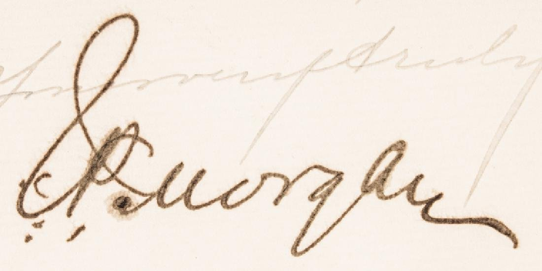 1906 Rare JOHN PIERPONT MORGAN Letter Signed - 3