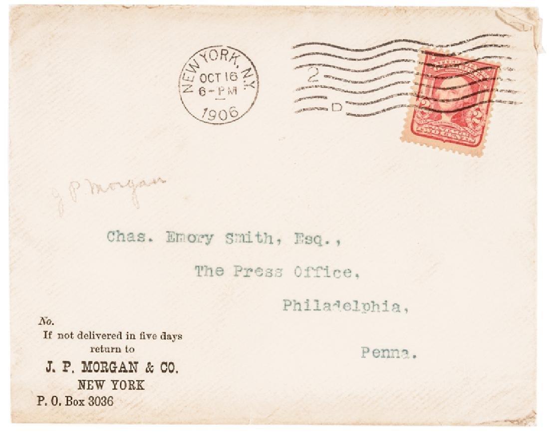1906 Rare JOHN PIERPONT MORGAN Letter Signed - 4